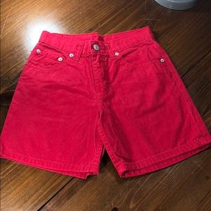 Jordache Jean Shorts Red